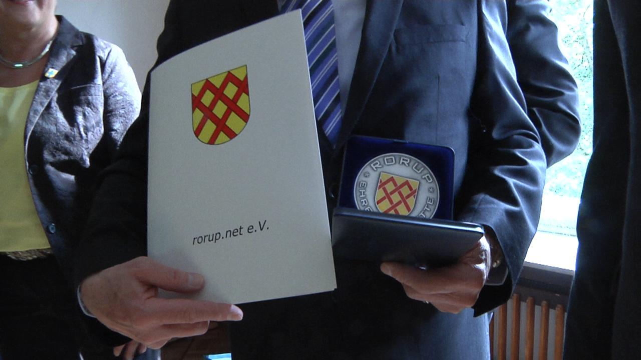 Ehrenplakettenverleihung an Herbert Reiberg