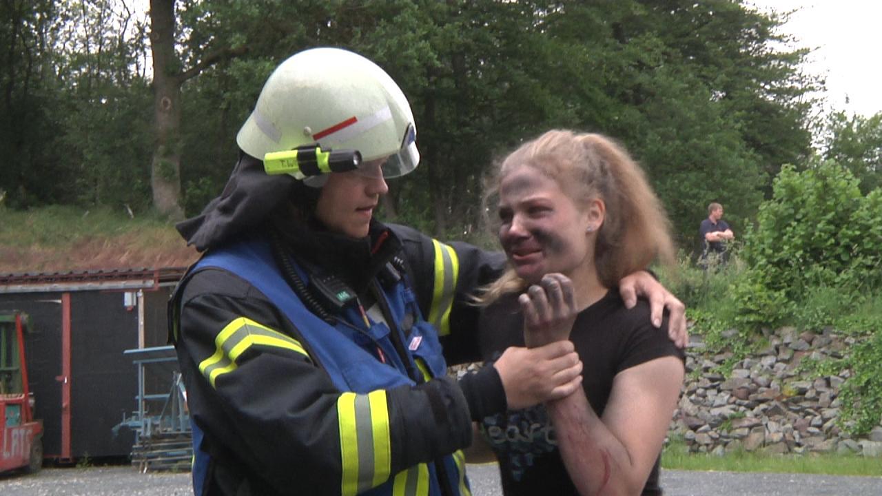 Feuerwehr Großübung in Lavesum
