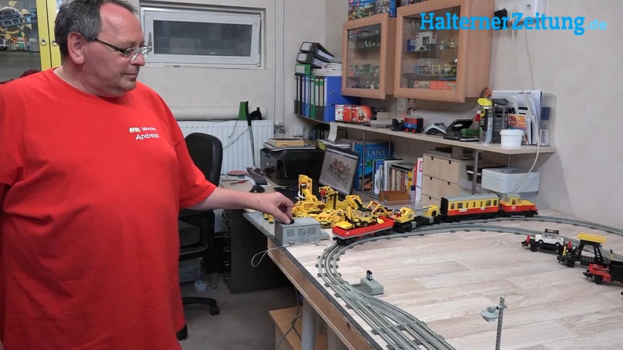 Andreas Engemann aus Sythen baut Konstruktionen mit Lego Steinen