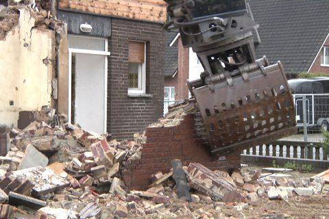 Abriss der Gaststätte Lindenhof in Sythen
