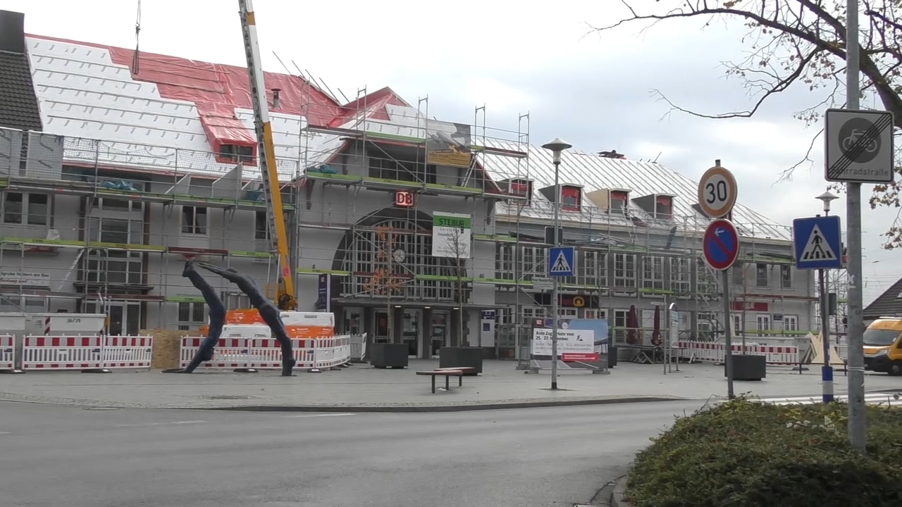 Großbaustelle Halterner Bahnhof