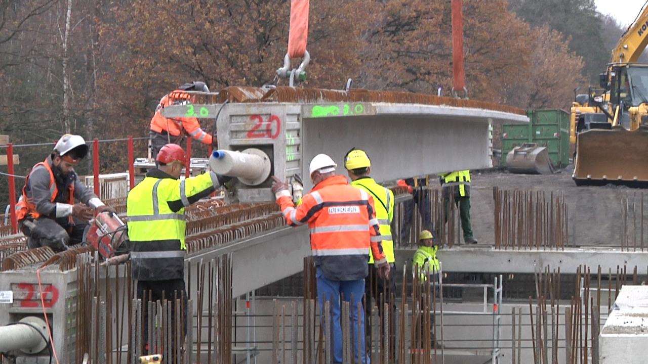 Express Brückenbau an der B474 in Dülmen