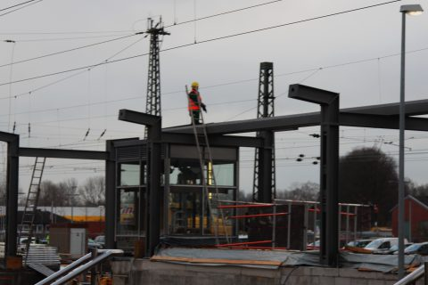 Behelfsbrücke am Halterner Bahnhof abgebaut