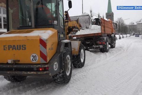 Wintereinbruch in Dülmen