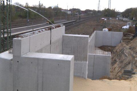 Baufortschritt am Bahnhof Dülmen